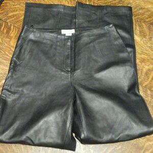 Black 100% Leather Pants ~ NWOT